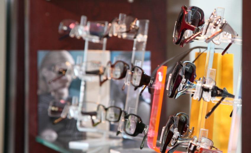 Eye Glasses At Optical Shop