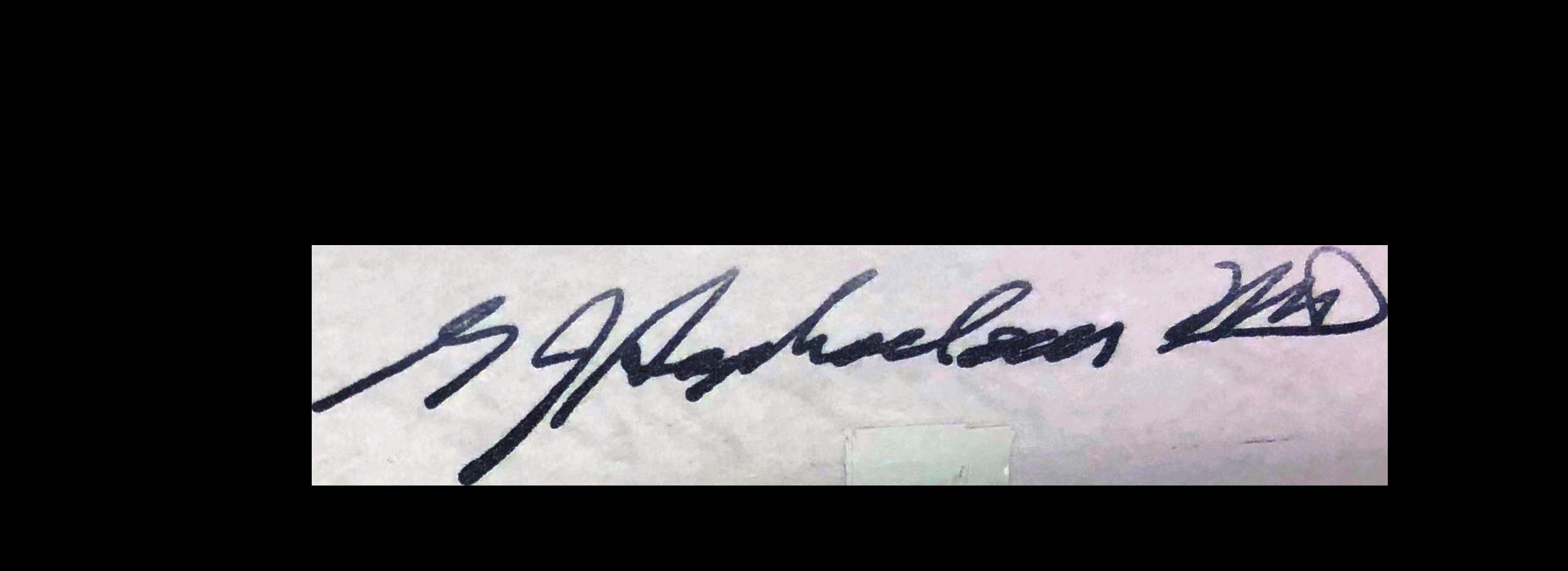 Dr Sophocleus Signature